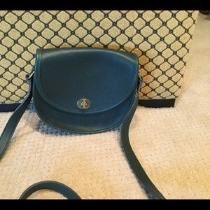 Vintage green leather Coach Watson crossbody bag